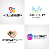 Set of modern colorful abstract creative web host Stock Photo