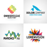 Set of modern colorful abstract logo emblem vector Royalty Free Stock Photography