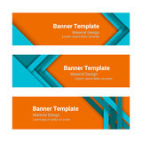 Set of modern colorful horizontal vector banners in a material design style. vector illustration