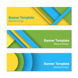 Set of modern colorful horizontal vector banners. Stock Images