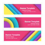 Set of modern colorful horizontal vector banners Royalty Free Stock Photography