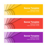 Set of modern colorful horizontal vector banners. Royalty Free Stock Photography