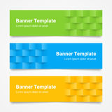 Set of modern colorful horizontal Vector Banners, page headers Stock Photos