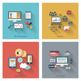 Set of modern concepts in flat design Stock Images