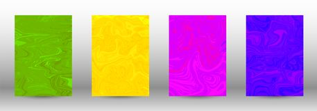 A set of modern covers. Abstract marble pattern. vector illustration