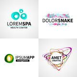 Set of modern creative colorful abstract spa Stock Images