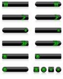 Set of modern dark web buttons Stock Photo