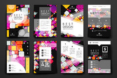 Set of modern design banner template in abstract background style. Beautiful design and layout Royalty Free Stock Images