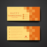 Set of modern design banner template in autumn Stock Image