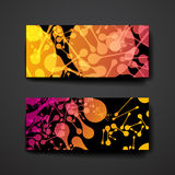 Set of modern design banner template in DNA molecule style Stock Image