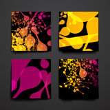 Set of modern design banner template in DNA molecule style Royalty Free Stock Photo