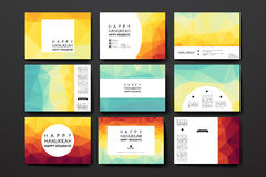 Set of modern design banner template in Hanukkah. Style. Beautiful design and layout