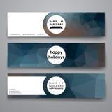 Set of modern design banner template in Hanukkah Royalty Free Stock Photo