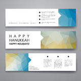 Set of modern design banner template in Hanukkah Royalty Free Stock Image