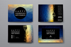 Set of modern design banner template in Hanukkah Stock Images