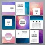 Set of modern design banner template in Mardi Gras style Royalty Free Stock Photo