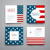 Set of modern design banner template in Presidents Day style Stock Photos