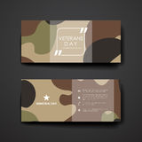 Set of modern design banner template in veterans Stock Images