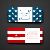 Set of modern design banner template in veterans Stock Photo