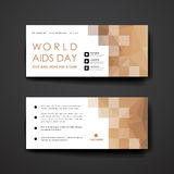 Set of modern design banner template in World AIDS Royalty Free Stock Images