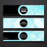 Set of modern design banner template in World AIDS Stock Photography