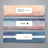 Set of modern design banner template in World AIDS Royalty Free Stock Photos