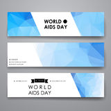 Set of modern design banner template in World AIDS Stock Photos