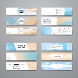 Set of modern design banner template in World AIDS Royalty Free Stock Image