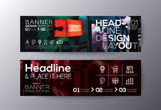 Set of modern design banners template Stock Photos