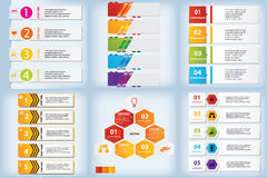 Set of Modern design clean number banners with business concept used for website layout, or website design. Stock Photography