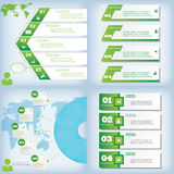Set of modern design clean number banners used for website layout. Infographic. Set of modern design clean banners template graphic or website layout. Vector Royalty Free Stock Photos