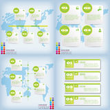Set of modern design clean number banners used for website layout. Infographic. Set of modern design clean banners template graphic or website layout. Vector Royalty Free Stock Images