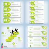 Set of modern design clean number banners on used for website layout. Infographic. Set of modern design clean banners template graphic or website layout. Vector Royalty Free Stock Images