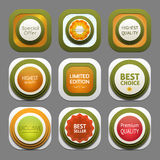 Set of modern design labels Royalty Free Stock Image