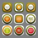 Set of modern design labels Royalty Free Stock Image