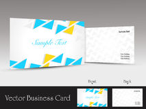 Set of modern design vector business card template. Colorful graphic shapes set of modern design vector business card templates Stock Photography