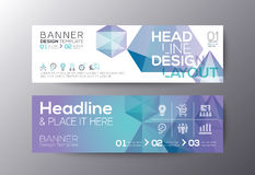Set of modern design web banners template Stock Images