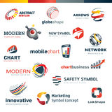 Set of modern designed icons Royalty Free Stock Image