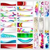 Set of modern, detailed web banners Royalty Free Stock Photos