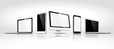 Set of modern devices isometric. Vector Stock Images