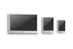 Set of modern digital devices Royalty Free Stock Images