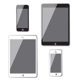 Set of Modern Digital devices.computer tablet. Stock Images