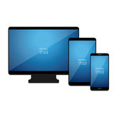 Set of Modern Digital devices. Vector Royalty Free Stock Photos