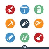 Set of modern DIY icons Royalty Free Stock Photography