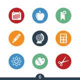 Set of modern education icons Stock Photo
