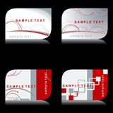 Set of modern elegant business cards Royalty Free Stock Image