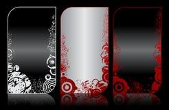 Set of modern elegant grunge business cards Stock Photos