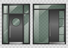 Set of modern entrance doors Stock Photography