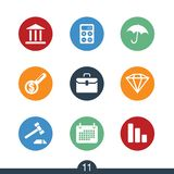 Set of modern finance icons Royalty Free Stock Image