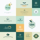 Set of modern flat design beauty icons royalty free illustration